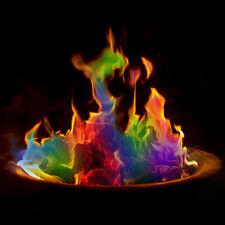 10 x Magic Neon Flames Colour Changing Mystical Fire Bonfire Sachets Fire Pit