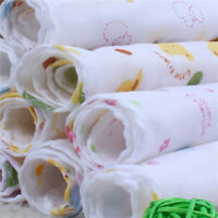 Infant Baby Kids Cotton Feeding Saliva Towel Dribble Square-Bandana Bib-Eye R5I6