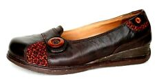 Dansko Womens Size 38 Flowers Floral Brown Leather Slip On Clogs Nurse Shoes EUC