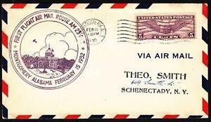 1932 First Flight CAM-23 Montgomery, Alabama AL Sc C12