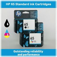 HP 65 Standard Single or Multi-Pack Ink Cartridge (Black or Tri-Color), BOXED !