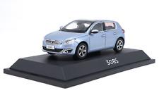 1/43 Original manufacturer alloy car model Blue Peugeot 308S Gift collection