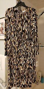 NWT Calvin Klein Women's Wrap Dress 24W Animal Print
