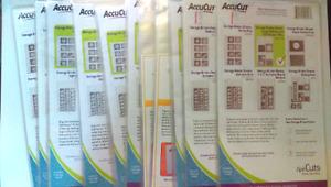 AccuCut Zip'eCuts Storage Binder Sheets Variety packs and more **NEW** U-Pick