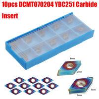 10pcs DCMT070204 Carbide Insert Blue Nano for SDNCN1010H07/SDNCN1212H07   i