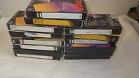Lot Of 14 Pre-Recorded Mix Label T-120  VHS Tapes Sold As Is Used Blanks Lot BW