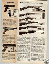 1958 PAPER AD Rifle Pistol Crosman Daisy Pump Air Gun Red Ryder Eagle Pellgun