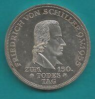 5 DM-Silber-Gedenkmünze-BRD-1955 F-Schiller-Original-11,2 Gr. fast Stempelglanz-