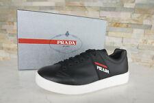 PRADA Gr 41,5 7,5 Sneakers Schnürschuhe Schuhe 4E3197 schwarz NEU ehem. UVP 520€