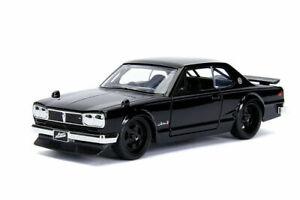 1:32 Fast & Furious Brian's Nissan Skyline 2000 GT-R KPGC10 Black Car JADA