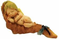 Miniature  Dollhouse Garden FAIRY GARDEN  Sleeping Fairy Baby w/ Dragonfly