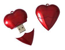 Herz Rot Valentin USB Stick mit 16 GB Speicher / USB Speicherstick Flash Drive