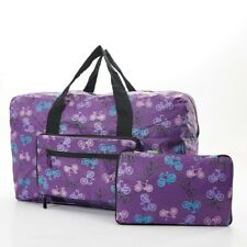 ECO CHIC Folding Holdall Purple Cycling Bicycle Design Lightweight Cabin Size