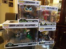 Funko Pop Heroes Batman Catwoman Flash Aquaman Jim Lee DC GameStop Exclusive Lot