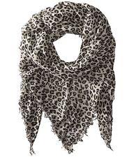 Chan Luu Hollywood Celebrity Scarf Soft Cashmere Silk Wrap Leopard Dove Black