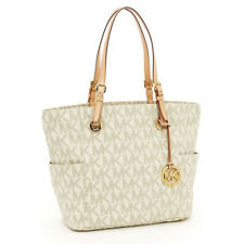MICHAEL KORS JET SET VANILLA SIGNATURE PRINT TOTE BAG