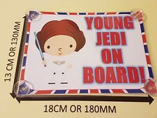 Young Jedi On Board (girl)  Laminated Car Sign