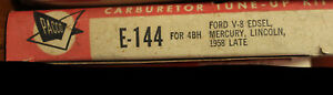Pacco Carburetor Tune Up Kit E-144 Ford V8, Edsel, Mercury, Lincoln 1958+ (466*)