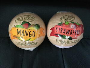 Bath Bombs (two) Strawberry and Mango