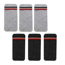 6pcs Portable Felt Eyewear Storage Pouch Sunglass/Eyeglasses Case Pen Bag