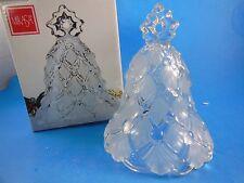 "Mikasa Crystal Winter Dreams Christmas Tree Bell 5.5"" Made in Germany BEAUTIFUL!"