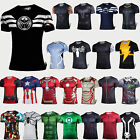 Mens Casual Sports Compression T-shirt Short Sleeve Tee Superhero Costume Shirts