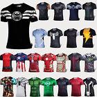 Mens Casual Sports Compression T-shirt Short Sleeve Tee Superhero Costume Shirts