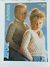 """CHILD VINTAGE KNITTING PATTERN,  JUMPERS, 20-30"""". FOR CHARITY 🎁"""
