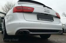 Diffusor passend für Audi A6 C7 4G Avant Heckdiffusor (Doppelendrohr-links)