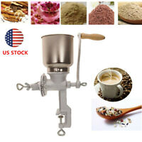 Tall Cast Iron Hand Crank Mill Grinder Manual Grains Oats Corn Wheat Coffee Nuts