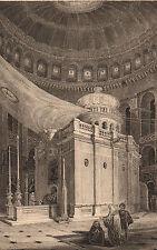 Lithographie XIXe Eglise Saint Sépulcre Jérusalem Ναός της Αναστάσεως
