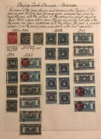 US REVENUE STAMPS SCOTT PLAYING CARDS LOT 29 STAMPS 1894-1940 H accumulation