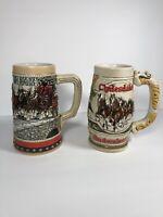Vintage 1988 & 1980's Budweiser Steins