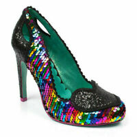 Black High Heel Polka Dot Bow Shoes Irregular Choice /'Curtain Call/' Q