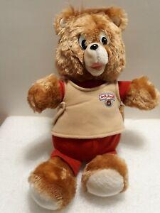 "Worlds of Wonder Non-Talking Teddy Ruxpin 14"" Stuffed Animal Plush 1988"