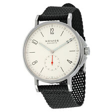 Nomos Ahoi Automatic White Dial Black Textile Strap Mens Watch 550