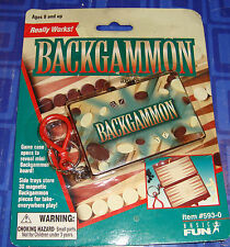 LAST 1> New BACKGAMMON  Keychain Game New In The Package Sealed