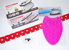 Gritzner Mini Dampfbügeleisen plus Silikonablage pink - Iron 636 Dampfbügeler