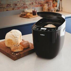 BRAND NEW Tower 2lb Digital Bread Maker12 Automatic Programs 550W - Black