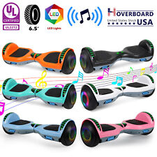 """6.5"""" Self Balancing Hoverboard Electric Scooter With Bluetooth Speaker No Bag"""