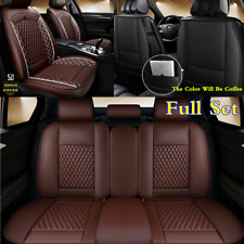 5D Full Surrounded PU Leather Seat Cover Cushion For Car Interior Accessories