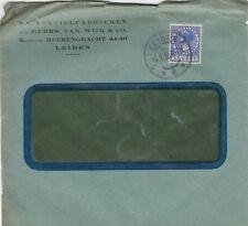 LEIDEN, Briefumschlag 1928, N.V. Textielfabrieken Gebrs. Van Wijk & Co.