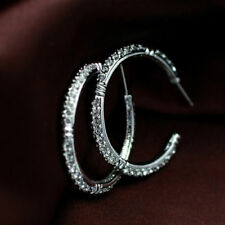 Hoop Natural White Gold Plated Fashion Earrings