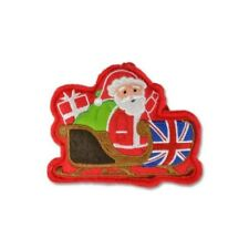 Union Jack Santa Sleigh Christmas Tree Decoration