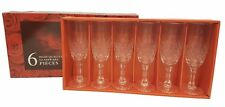 6 x Wine Glasses 200ml Crystal Look Wine Goblet Glasses BOX GIFT Vintage