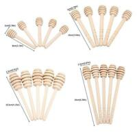 24Pcs Wooden Jam Honey Dipper Wood Stirring Rod Stick Syrup Spoon Dip Drizzler O