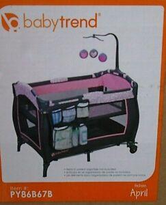 Baby Trend Portable Trend-E Nursery/Activity Center Playard, April PY86B67B