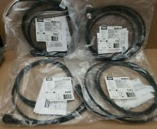 Lot of 4 Hubbell Micro-Quick Cables Female Right Angle 6 Feet/2M 22AWG 300VDC 4A