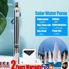 3 Dc Mppt Controller Solar Powered Water Pump Deep Well Submersible Pump 48v