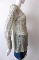 TED BAKER LONDON Top Long Sleeve Silk Semi Sheer Size 1 AU 8 - 10 US 4 - 6